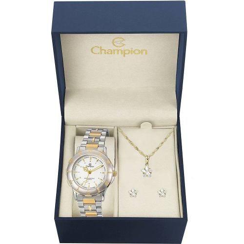 Relógio Feminino Champion Analógico Fashion Ch30126w + Colar