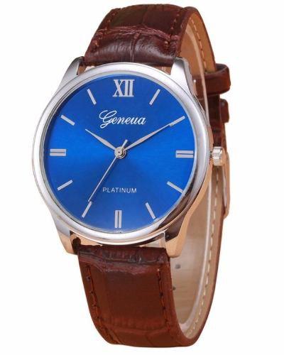 Relógio Masculino Geneva Original Social Couro Platlnum