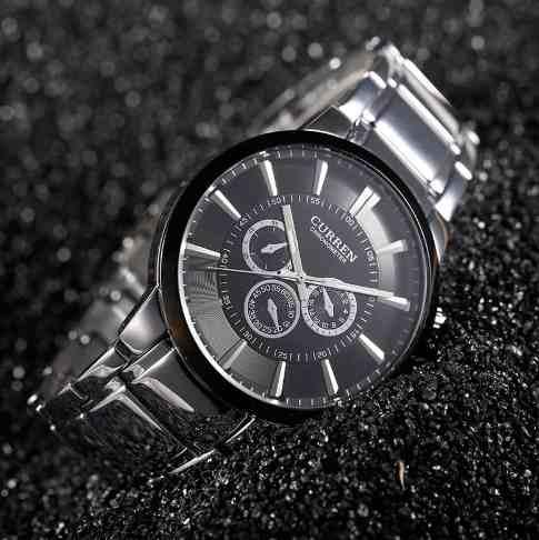 Relógio Masculino De Luxo Curren Resistente A Água 8001 Prat