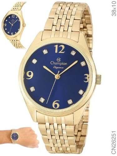 Relógio Champion Feminino Dourado - Cn26251k