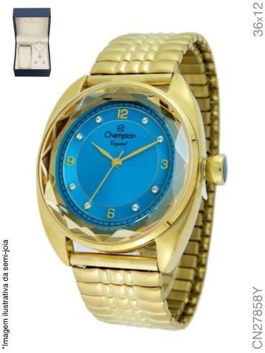 Relógio Feminino Champion Analógico Fashion Cn27858y + Colar