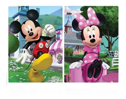 2 Quebra-cabeças 200 Peças Mickey E Minie Disney Toyster Jak