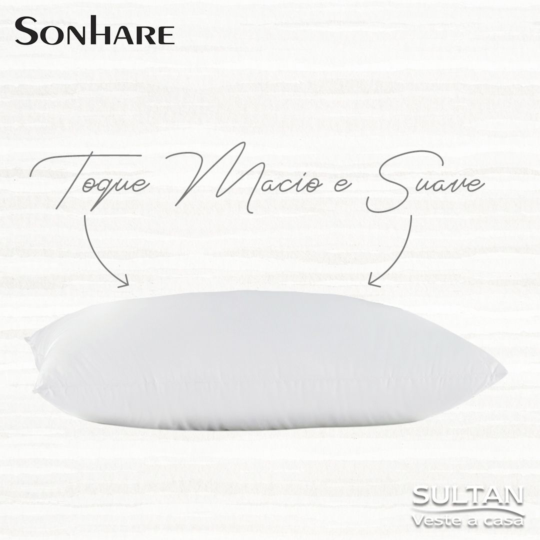 2 Unid Travesseiro 50x70 Sonhare Sultan Antialérgico