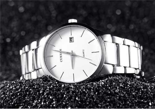 Relógio Curren Casual Masculino Original - Modelo 8106 Prata