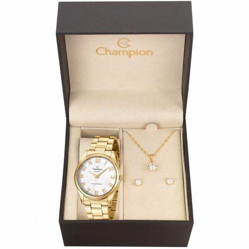 Relógio Champion Feminino Original Cn29883j + Kit Brinde
