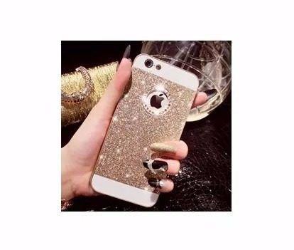 Case Capinha Luxo Acrilico Strass Pedrinhas Iphone 5 6 Plus