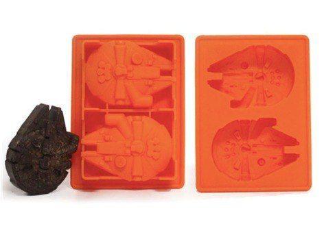 Star Wars Forma Silicone Gelo Chocolate Millennium Falcon