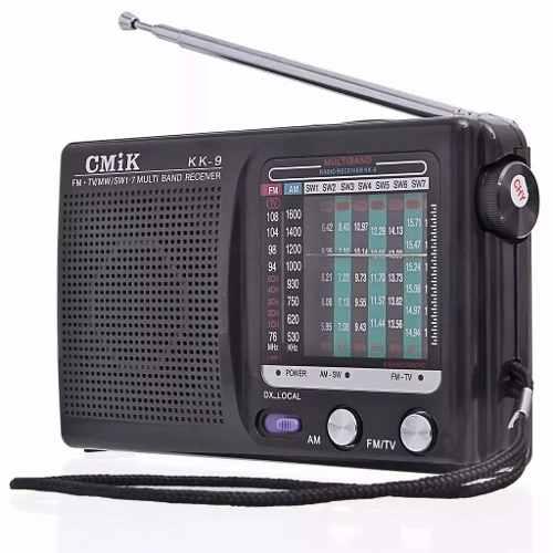 Rádio Analógico Antigo Portátil 2 Bandas Am/fm Tv Pocket K9