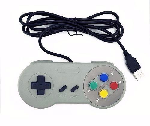 Kit 4 Controles Usb - Nes, Snes, Mega Drive E N64