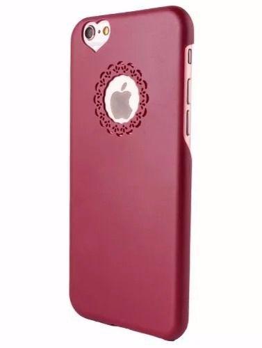 Capinha Capa Case Apple Iphone 6/6S Acrílico Rosa Coração