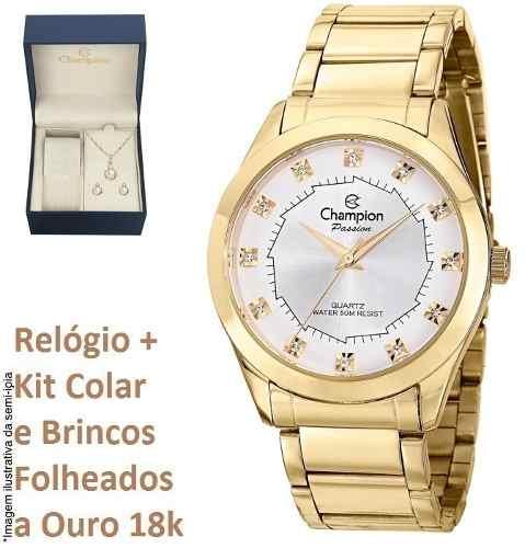 Relógio Champion Feminino Original Ch24759w Kit Brinde + Nf