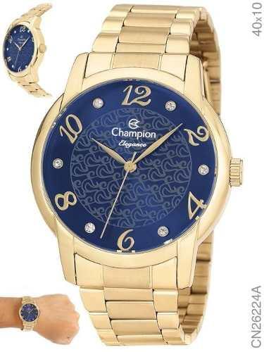 Relógio Champion Feminino Cn26224a Original + N. Fiscal