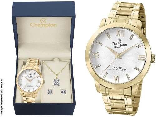 Relógio Champion Cn29169b O R I G I N A L + Kit Brinde + Nf