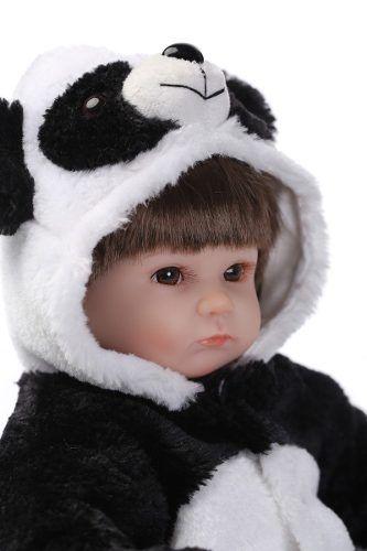 Boneca Bebê Reborn Realista Panda Silicone Pronta Entrega