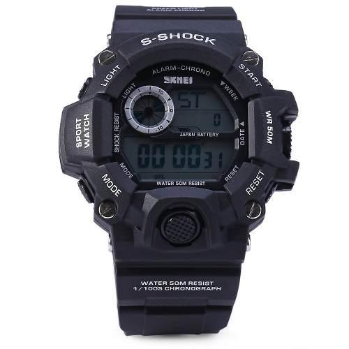 Relógio Original Skmei Preto Prova D'água Masculino 1019