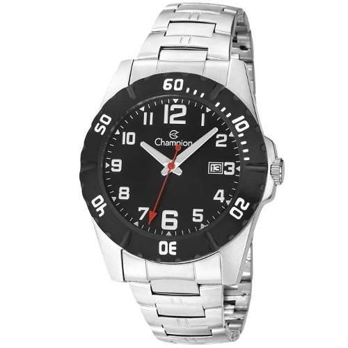 Relógio Champion Masculino Ref: Ca31300t Casual Prateado