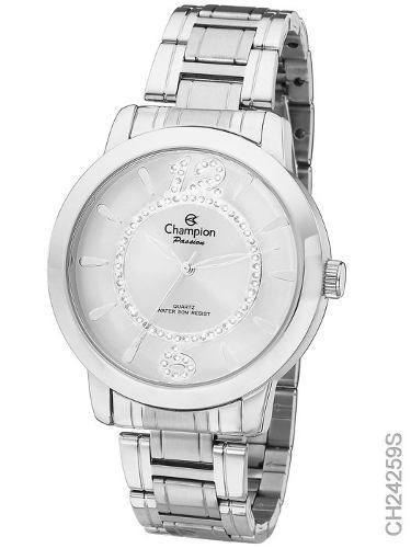 Relógio Champion Feminino Prata Passion Ch24259s