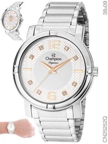 Relógio Champion Feminino Cn25252q Original + N. Fiscal
