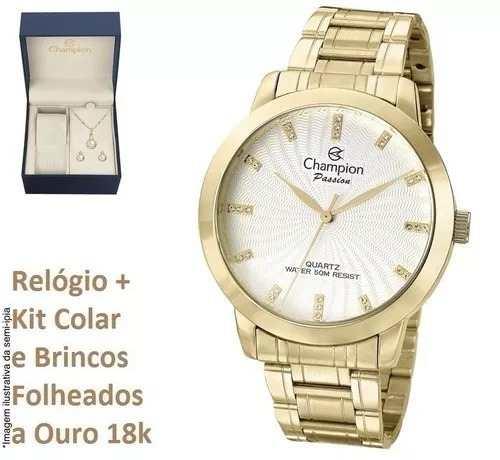 Relógio Champion O R I G I N A L Cn29276b + Kit Brinde + Nf