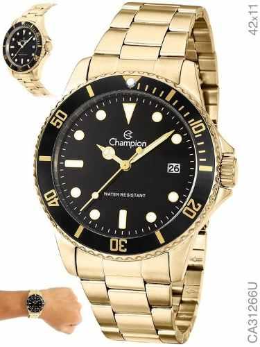 Relógio Champion Masculino Dourado E Preto Ca31266u Original