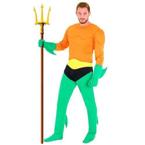 Fantasia Aquaman Adulto Liga Da Justiça Original Tamanho P