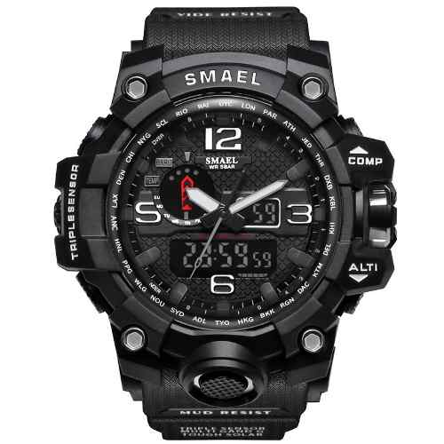 Relógio Masculino Militar Esporte Smael 1545 Prova D' Agua