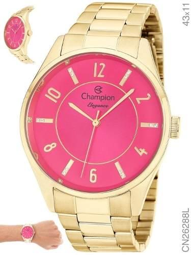 Relógio Feminino Champion Dourado Analógico Social CN26288L