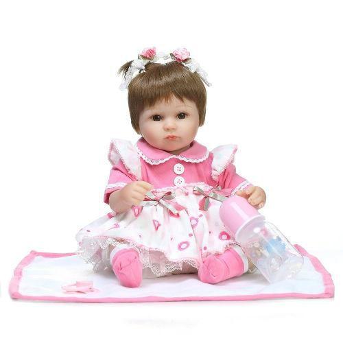 Boneca Reborn Bebê Reborn 40cm + Brinde Pronta Entrega Laura