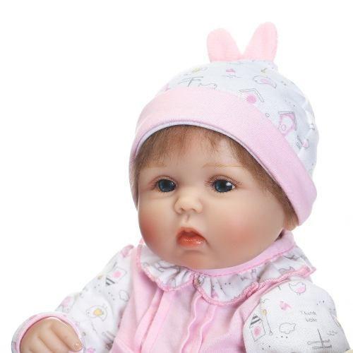 Boneca Bebê Reborn Silicone + Pelúcia Brinde +pronta Entrega