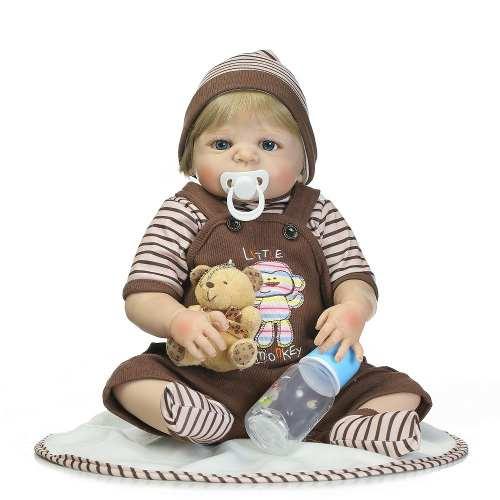 Bebê Reborn Menino Loiro Realista - Pronta Entrega