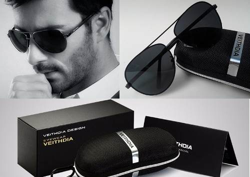 Óculos Polarizado Veithdia Alloy Masculino Feminino Uv400