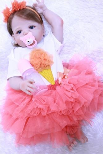 Boneca Bebe Reborn Vinil Yasmin Pronta Entrega