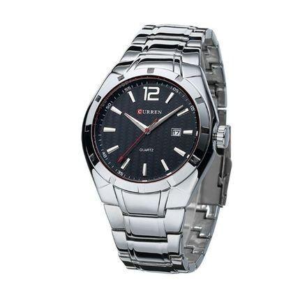 Relógio Curren Analógico 8103 Prata/preto