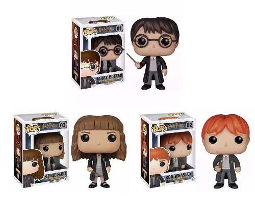 Kit Harry Potter - Ron, Hermione, Harry Funko Pop!