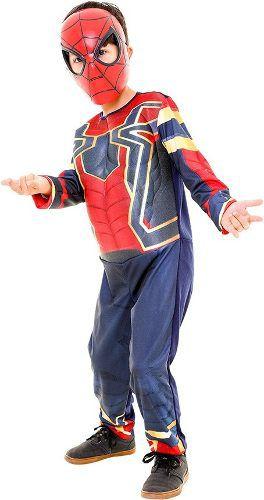 Fantasia Homem Aranha Guerra Infinita Infantil Luxo