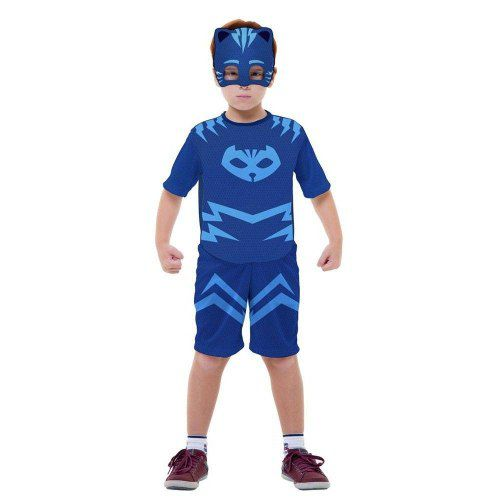 Fantasia Pj Masks Menino Gato Connor Infantil Curta Original