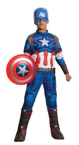 Fantasia Capitão America Infantil Vingador Músculo Original