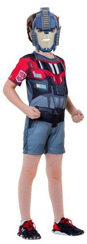 Fantasia Optimus Prime Infantil Curta Transformers Original