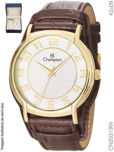 Kit Relógio Feminino Champion Puls. Couro C/ Brinde Cn20319w