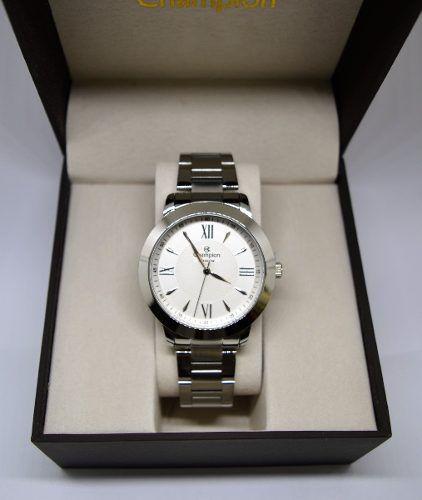 Relógio Champion Feminino Prata Ch24697q Original