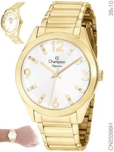 Relógio Champion Feminino Dourado Cn25396h