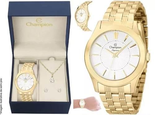 Relógio Champion Cn25378w O R I G I N A L + Kit Brinde + Nf