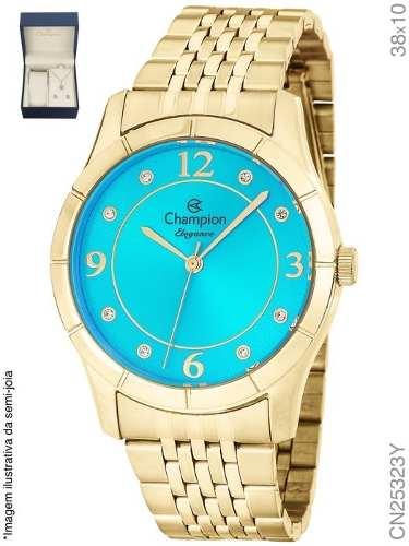 Relógio Champion Feminino Original Cn25323y Analógico