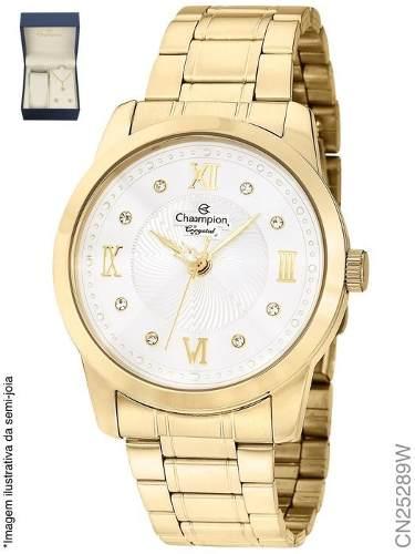 Relógio Feminino Champion Fashion Cn25289w Algarismos Romano
