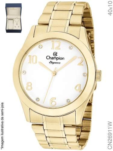 Relógio Champion Original Cn26911w + Kit Brinde + Nf