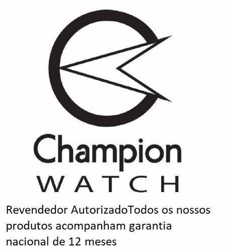 Relógio Champion Feminino Dourado Kit Colar Brincos Cn29909w
