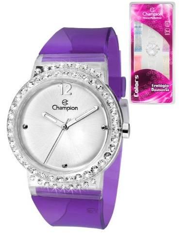 Relógio Feminino Champion Troca Pulseiras Cp28275s / 56046
