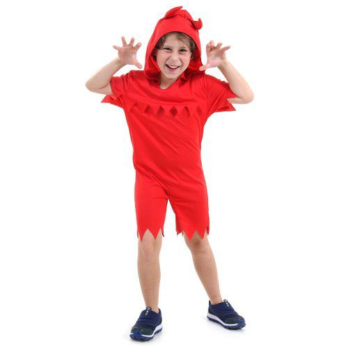 Fantasia Vermelha Diabo Pop Infantil Novidade