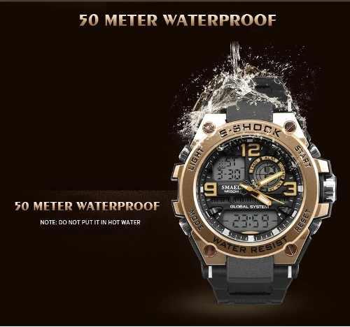 Relógio Masculino S-shock Esporte Prova D'água 1603 japonês