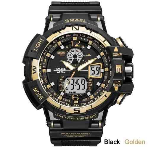 Relógio Masculino Militar G-shock Smael Ws1376 Prova D'água